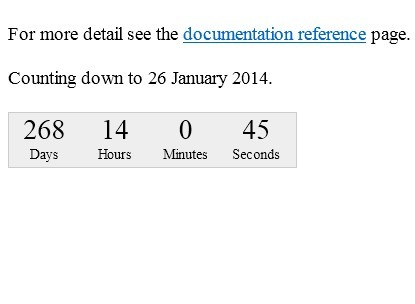 Customizable Countdown Timer Plugin For jQuery - countdown