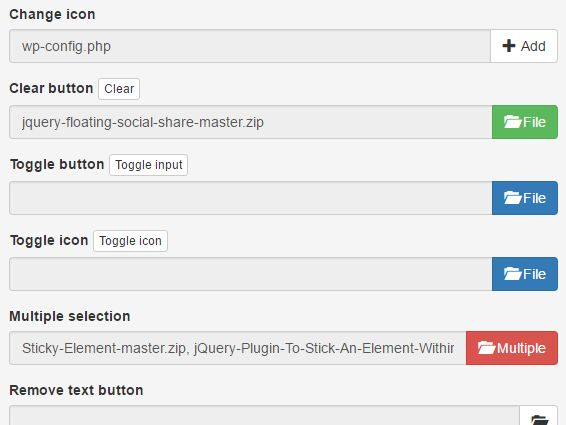 Customizable File Input Plugin With jQuery And Bootstrap ...