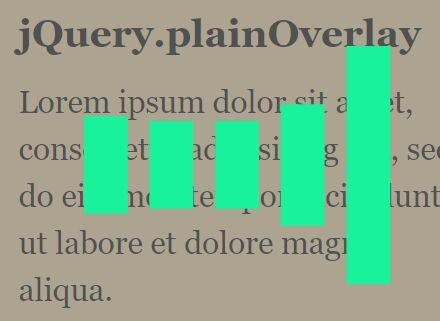 Customizable Overlay Loading Screen With jQuery - plainOverlay