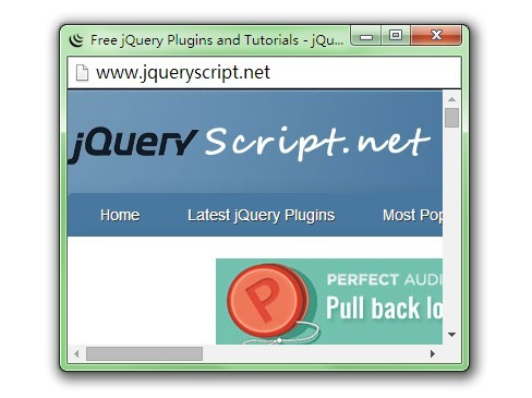 Customizable Popup Browser Windows with jQuery Popup Window Plugin