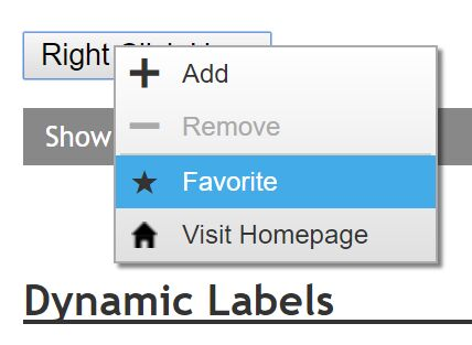 Customizable Right-click Popup Menu Plugin With jQuery - popmenu.js