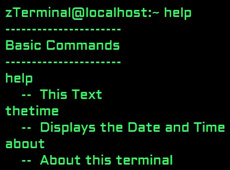 Tiny Customizable Terminal Simulator For Websites - jQuery zTerminal