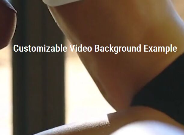 Customizable Video Background Plugin - jQuery backgroundVideo