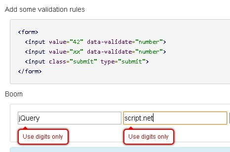 Customizable jQuery Client Side Validation Plugin - Verify.js ...