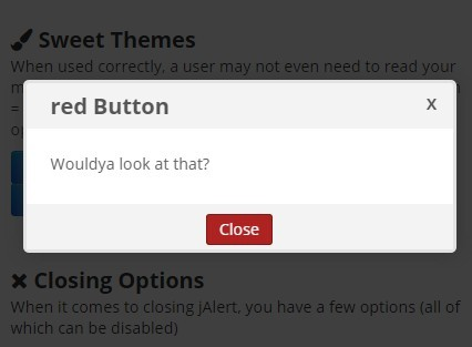 Customizable jQuery Modal Dialog Plugin with CSS3 Animations - jAlert