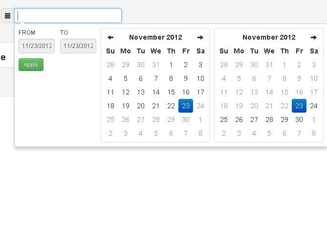 jquery date range picker for twitter bootstrap