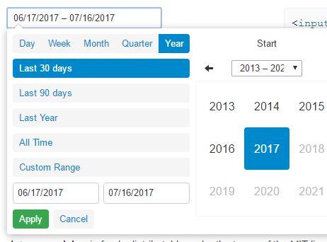 Convenient Date Range Picker Plugin For jQuery - dateRangePicker