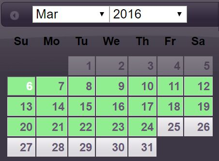 Date Range Picker With jQuery And jQuery UI