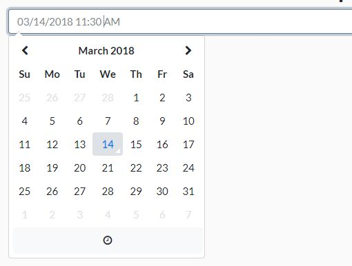 Customizable Date/Time Picker Component For Bootstrap 4