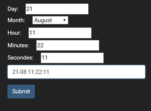 Select Dates & Times From Form Fields - jQuery moDateTimeField