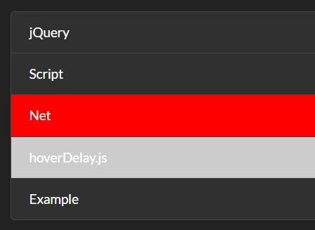 Delay Hover Over/Out Events With jQuery - hoverDelay js