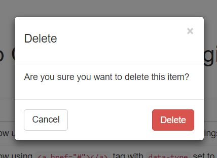 Delete Confirmation Dialog Plugin with jQuery and Bootstrap