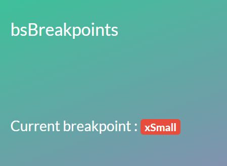 Detect Bootstrap 4 Breakpoints Using JavaScript - bs-breakpoints