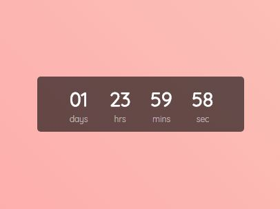 Easy Digital Countdown Clock Plugin With jQuery