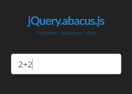 jQuery Plugin To Do Math Within An Input Field - Abacus.js