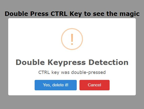 Double Keypress Detection Plugin For jQuery - double-keypress