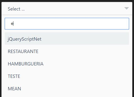 Minimal Dropdown Select With Fuzzy Search - jQuery