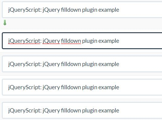 Duplicate Text In Multiple Input Fields - filldown | Free jQuery Plugins