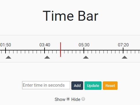 Hozizontal Duration Picker For jQuery - timeBar.js
