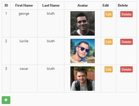 Dynamic CRUD Table Plugin With jQuery And Bootstrap - Simpletable