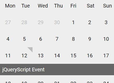 Easy Dynamic Event Calendar Plugin For jQuery - tempust