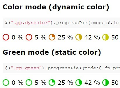 Dynamic Pie Chart-style Progress Bar with jQuery and SVG - progresspieSVG