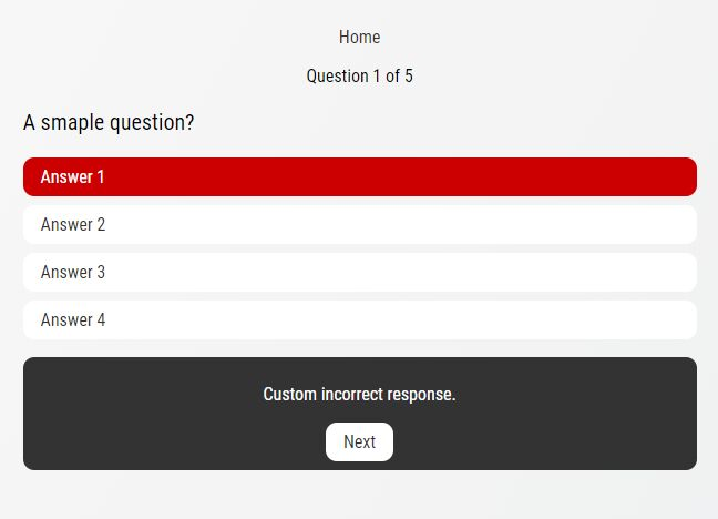 Customizable Dynamic Quiz Plugin With jQuery - quiz.js