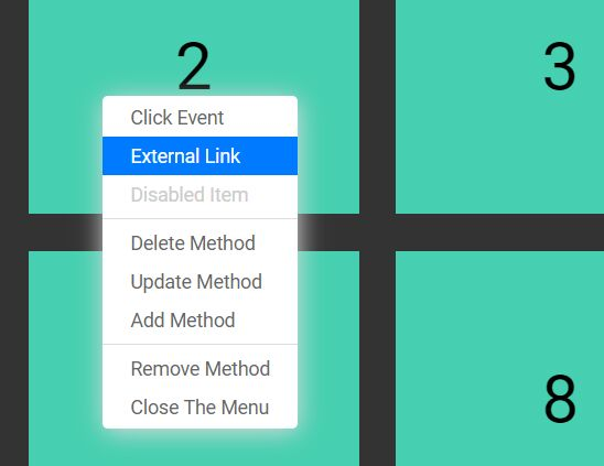 Dynamic Right Click Menu Plugin With jQuery - Context Menu