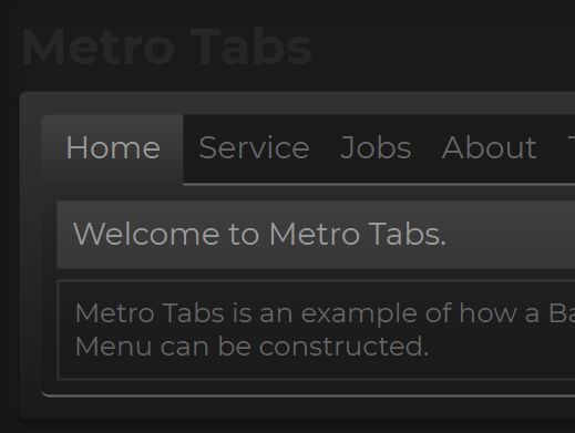 Dynamic Tab Menu With jQuery - Metro Tabs