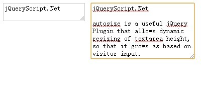 Dynamic Textarea Resizing Plugin with jQuery - autosize