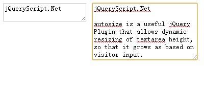dynamic textarea resizing plugin with jquery autosize