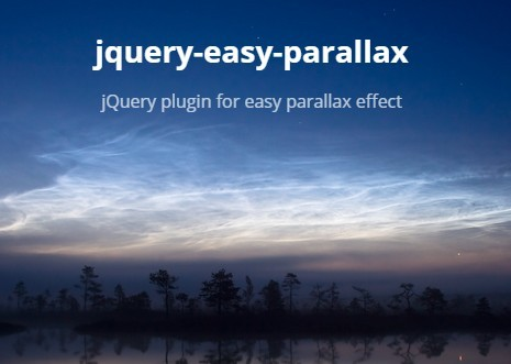 Easy Background Image Parallax Effect with jQuery and CSS3