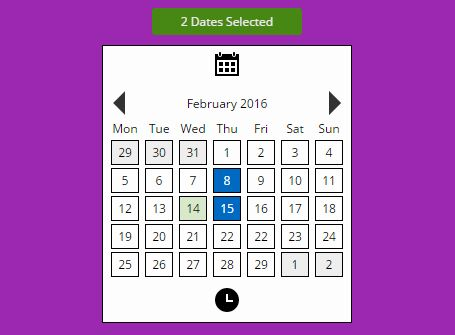 Easy Clean Date & Time Picker Plugin For jQuery - DatetimePicker.js