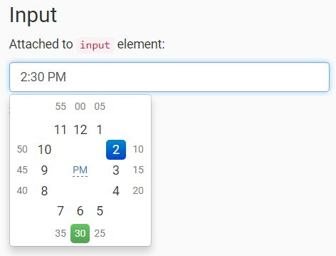 Easy Clock Time Picker Plugin For Bootstrap - Clockface