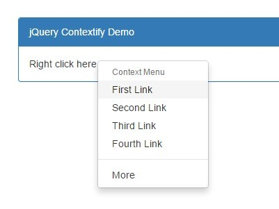 Easy Context Menu with jQuery and Bootstrap - Contextify