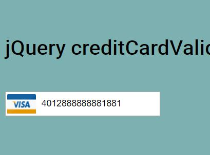 Easy Credit Card Input Plugin With jQuery - creditCardValidator