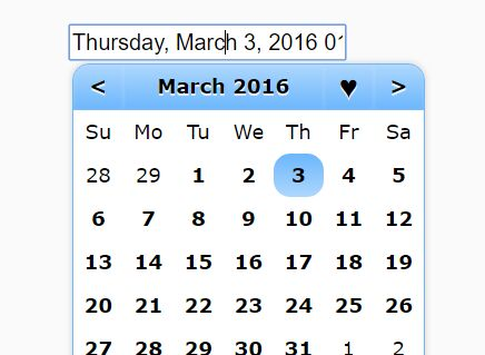 Easy Customizable Date And Time Picker Plugin For jQuery - jSunPicker