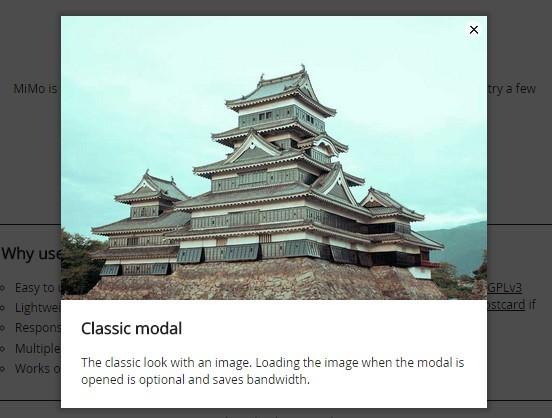 Easy Customizable jQuery Modal Plugin Plugin - MiMo