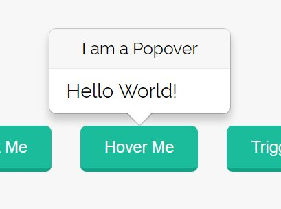Easy Customizable jQuery Popover Plugin - Popover.js