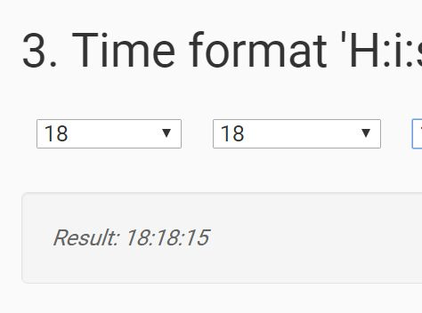 Easy Date & Time Dropdown Selector Plugin - dateTimeSelector