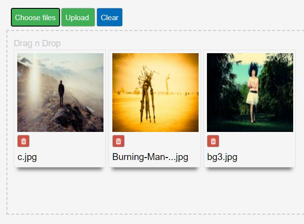 Easy Drag'n'Drop AJAX Uploader Plugin For jQuery - ssi-uploader.js