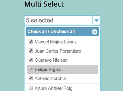 Easy Filterable Multi Select Plugin With jQuery