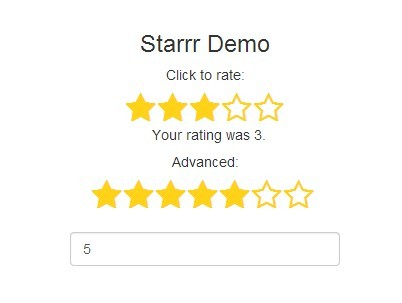 Easy Five-Star Rating Plugin with jQuery and Font Awesome - starrr