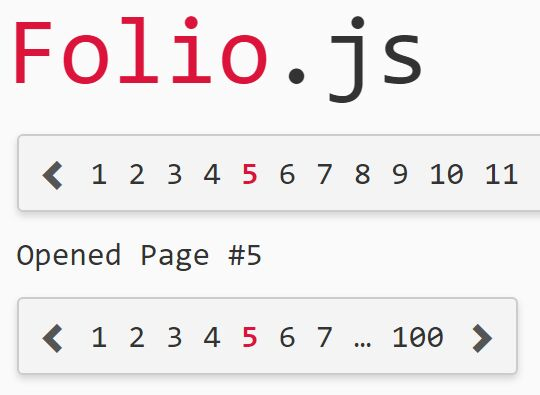 Easy Flexible Pagination Component For jQuery - Folio.js