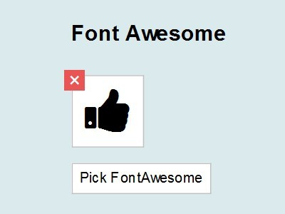 Easy Font Icon Picker with jQuery - picka