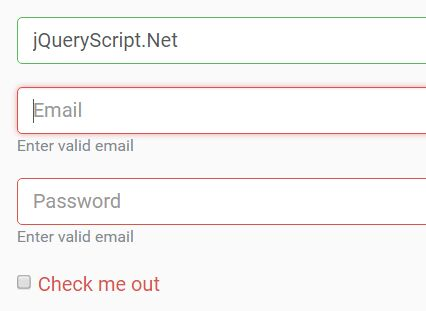 Easy Form Validation Plugin For Bootstrap 4 Jquery S Validatejs