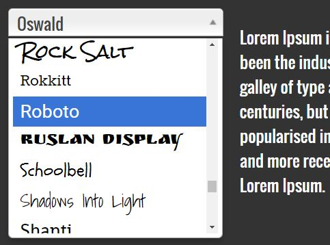 Easy Google Font Selector With jQuery - Fontselect