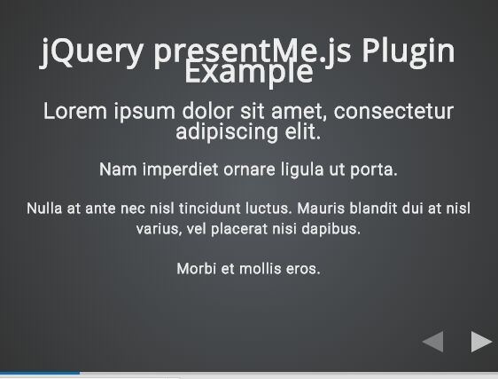 Easy Mobile Friendly HTML Presentation Plugin With jQuery - presentMe.js