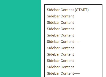 Easy Mobile-friendly Fixed Sidebar Plugin With jQuery - sidebarFix.js