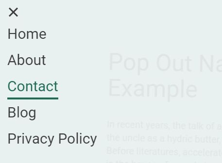 Easy Pop Out Navigation Menu With jQuery And CSS3